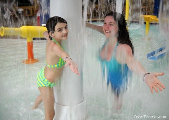dancing behind falling water