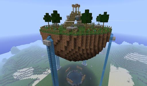 île flottante Minecraft