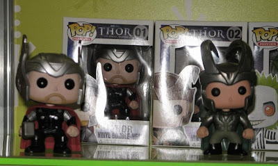 Pop! Marvel Bobble Head Vinyl Figures by Funko - Movie Thor & Movie Loki