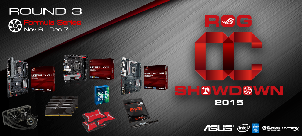 ASUS Republic of Gamers OC Showdown 2015 Formula Series R3