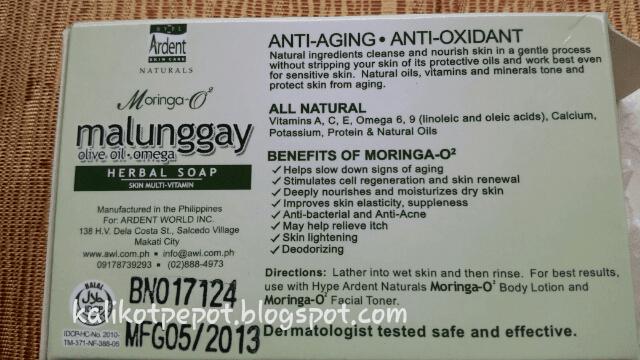 Moringa O2 Herbal soap box