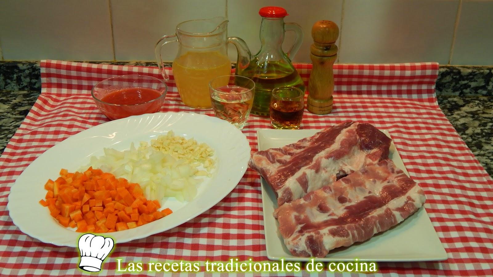 Receta fácil de costillas en salsa al horno