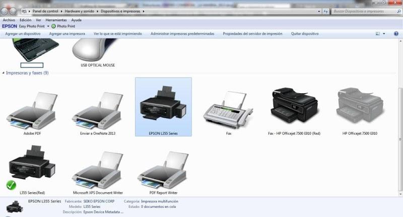 CD de DRIVER's CONTROLADORES - Impresora EPSON L355 [Español, multi-idiomas] 1 link IMPRESORAS+HP+_+EPSON