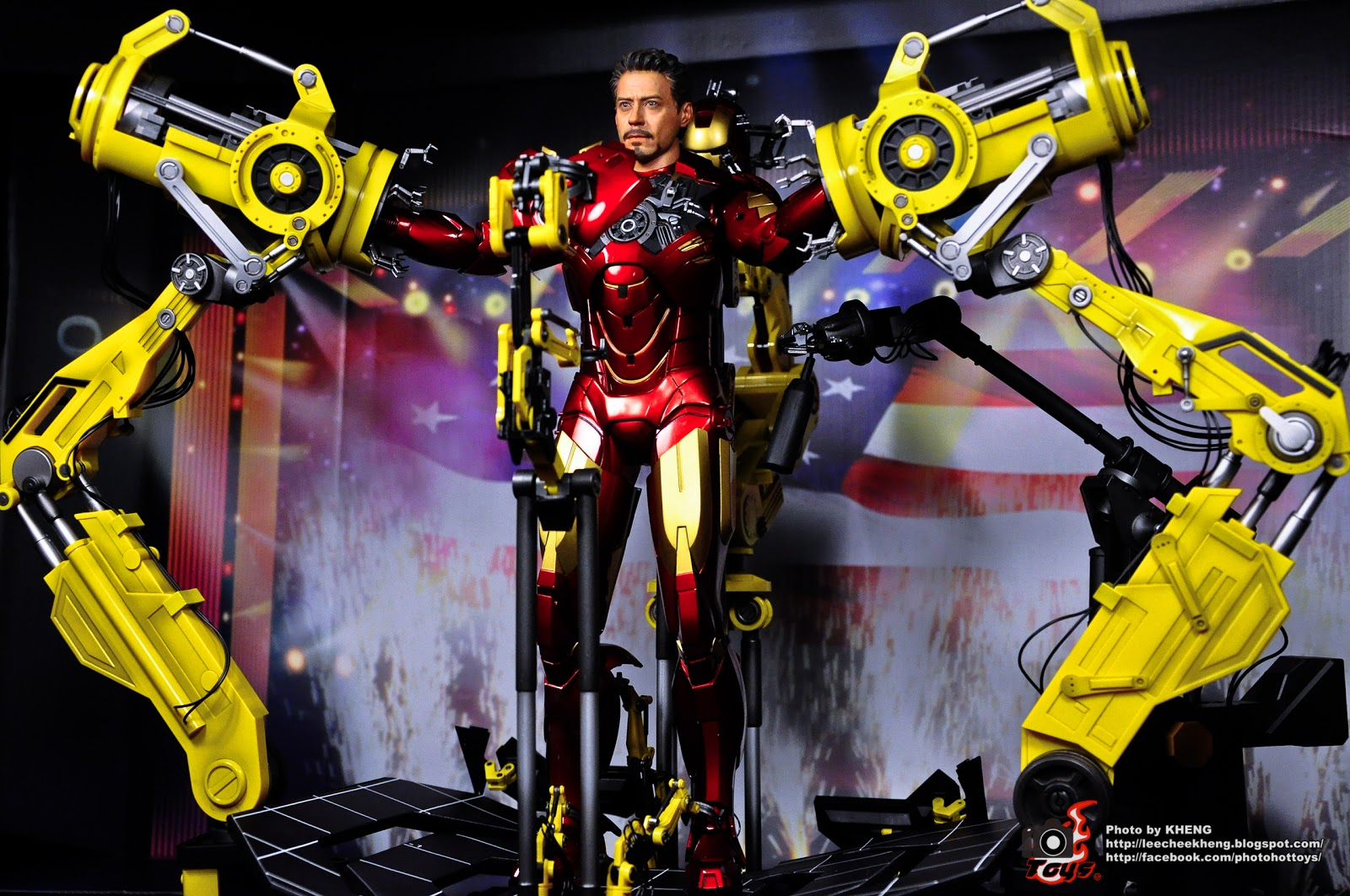 Iron Man 2 Hot Toys Suit Up Gantry With Mark Iv Iron Man 1 | Auto ...