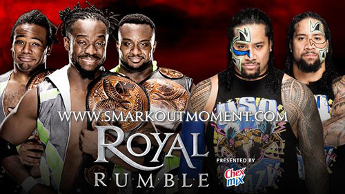 WWE Royal Rumble 2016 Usos vs New Day