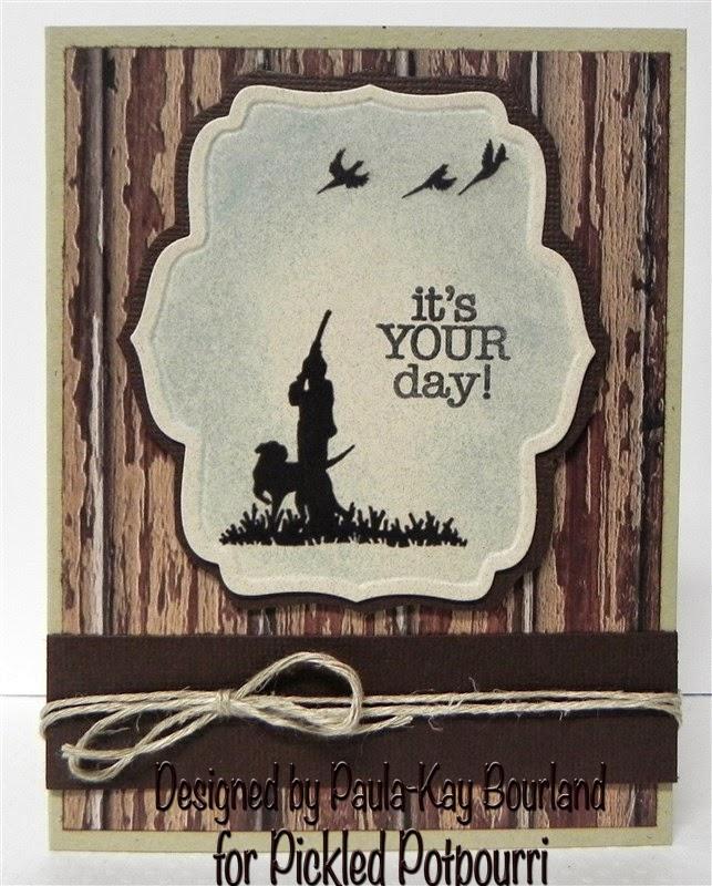 Creative Stamping With Paula Kay Hunting Birthday Card