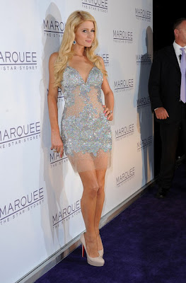 gorgeous looks & : paris hilton posses at the opening of marquee night club actress pics