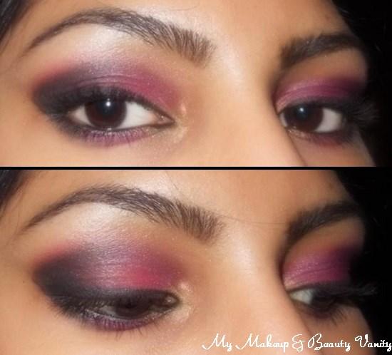 Eye-Makeup-Look-Smokey-Pink-Eyes+how to do smokey eyes+easy smokey eye tutorial