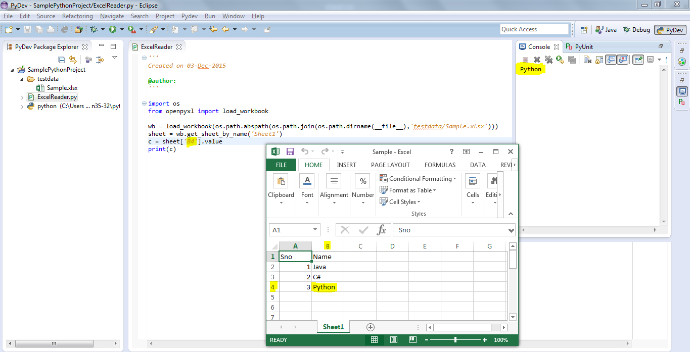 how to read excel files with python