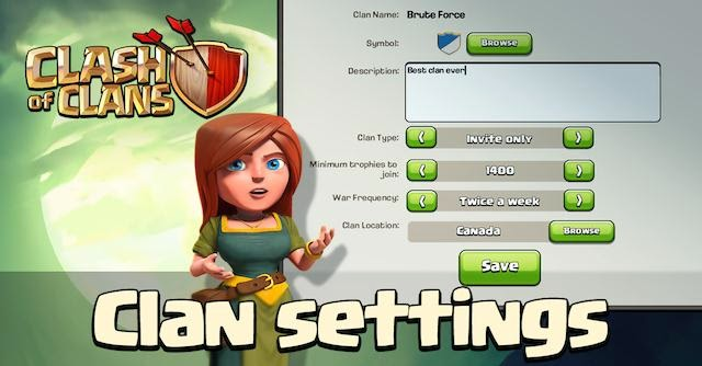 COC clan feature