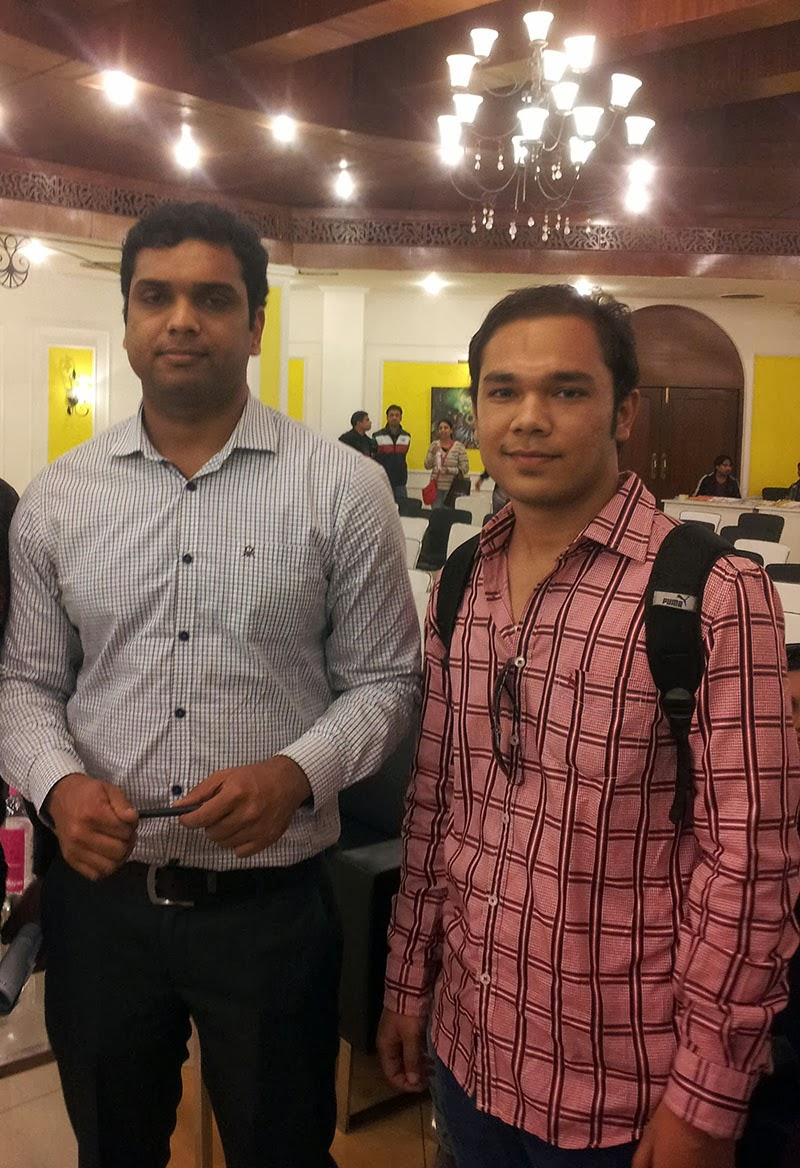 Anmol Rawat with Sachin Garg at Lit Hive 2014