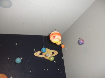 Solar system hanging from ceiling
