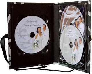 Estuche para 3 CD o DVD abierta