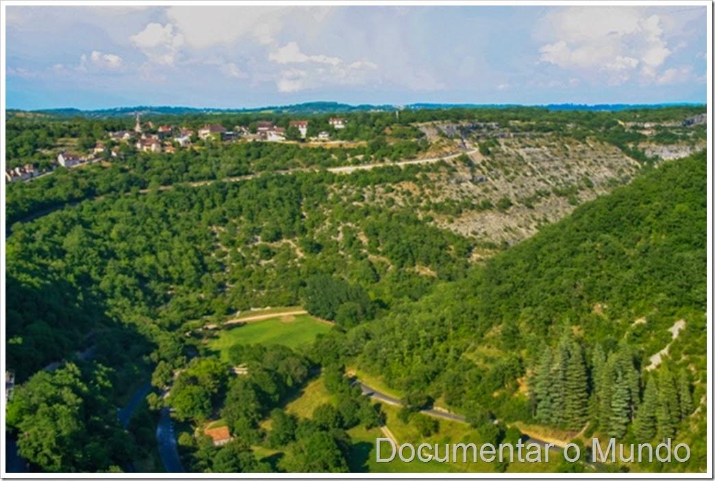 A paisagem envolvente de Rocamadour