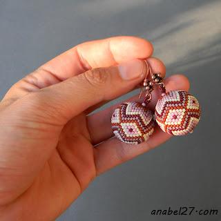 бисерные сережки - украшения ручной работы