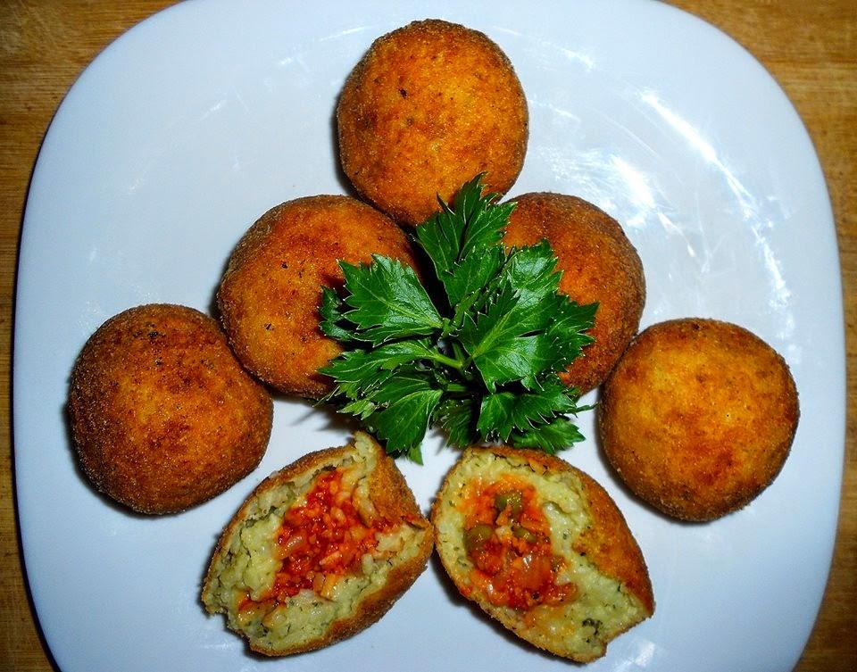 Arancini -  przene kuglice od pirinča
