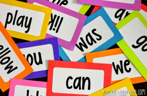 create your own brightly colored flashcards