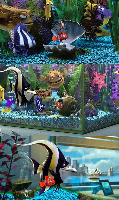 Guppy guide finding nemo aquarium updated for Finding nemo fish tank