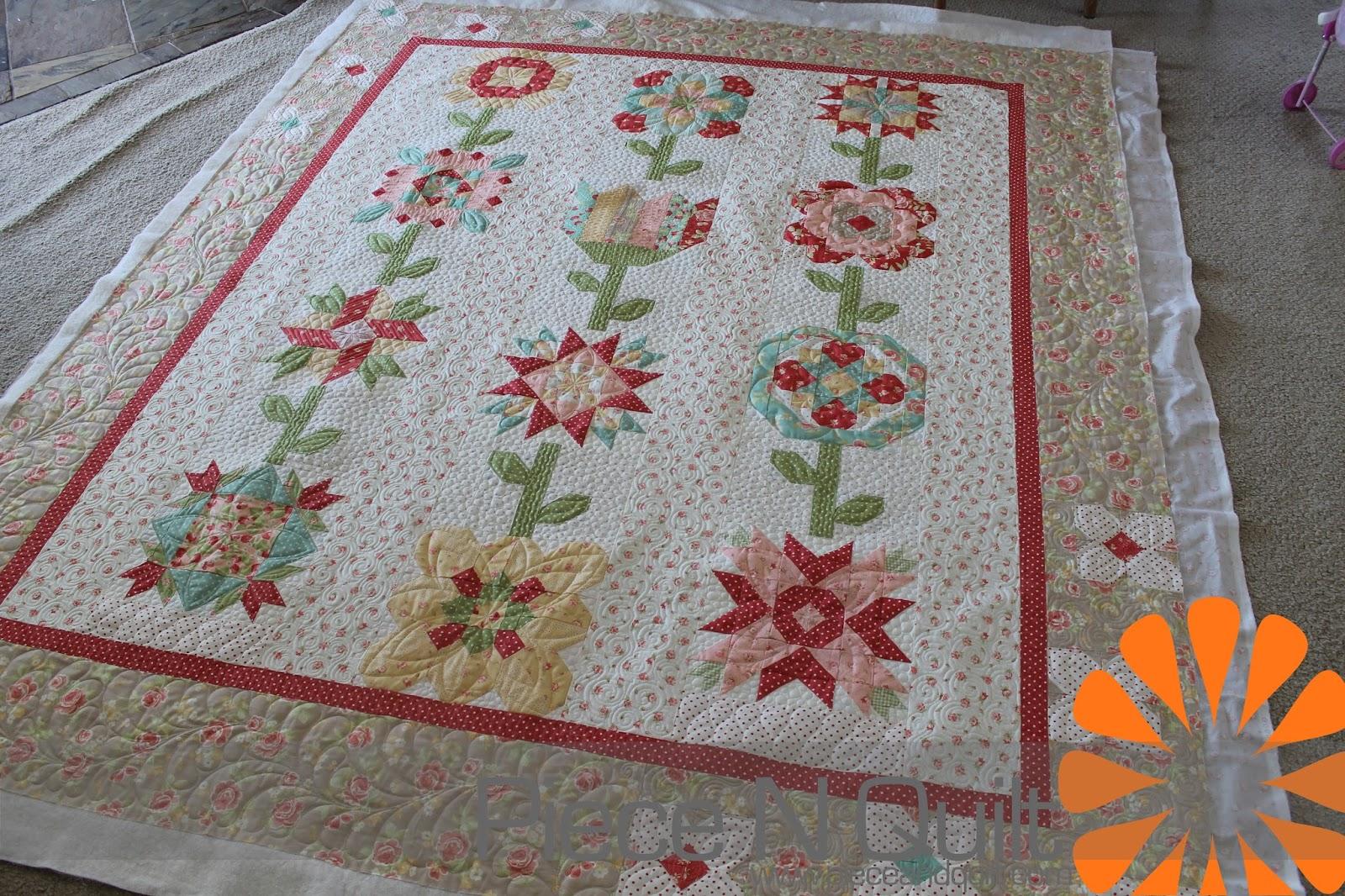 Piece N Quilt Flower Quilt