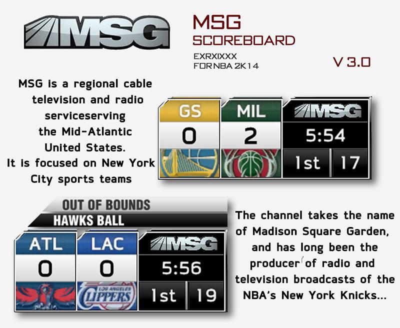 MSG TV Scoreboard Mod