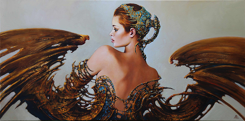 11-Karol-Bąk-Beautifully-Stylised-Portrait-Paintings-www-designstack-co