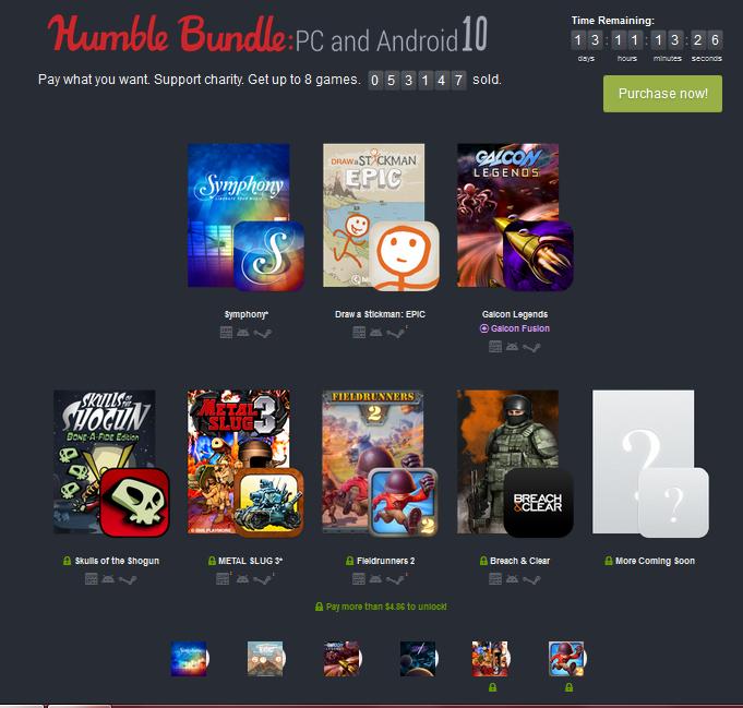 Nuevo pack de juegos para Android y PC.