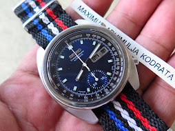 SEIKO CHRONOGRAPH SUNBURST BLLUE DIAL - AUTOMATIC 6139