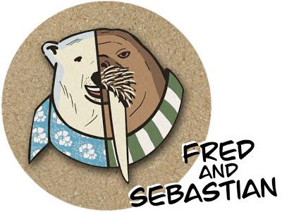 """Protagonistas del cómic """"Fred and Sebastian"""" para Greenpeace, Salva el Ártico"""