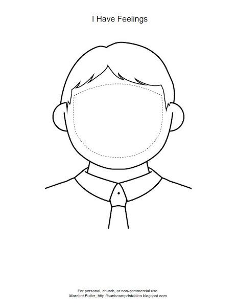 Girl Face Template Printable