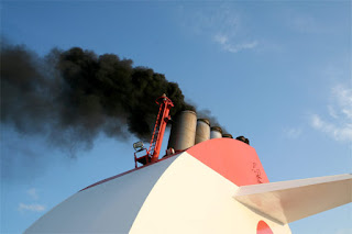 smokestack on a ship