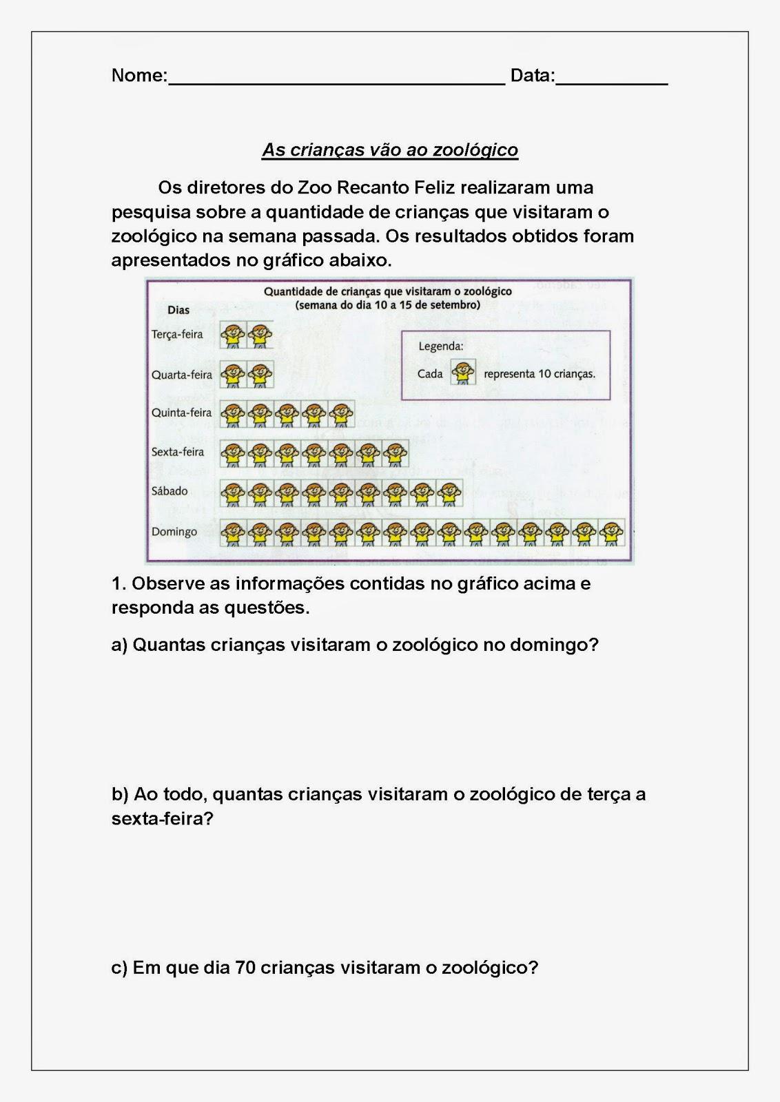 Desafios de Matemática - Leitura de gráfico