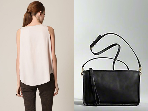 Alice + Olivia Lucy silk trapeze tank - Coach basic bag