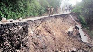 Landslide in Darjeeling