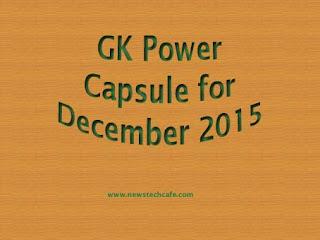December 2015 Bankersadda GK Power Capsule PDF Download