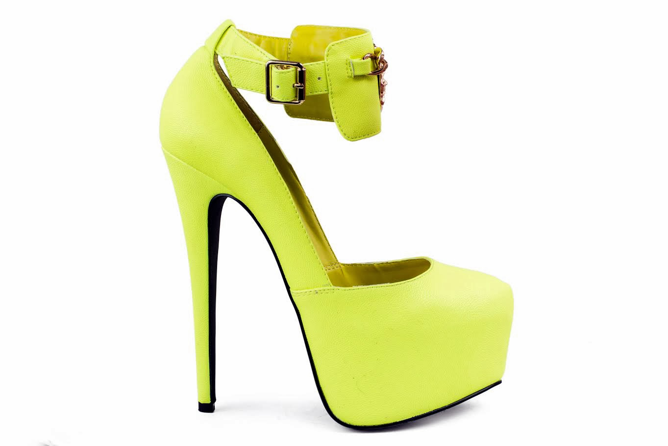 king neon yellow heels