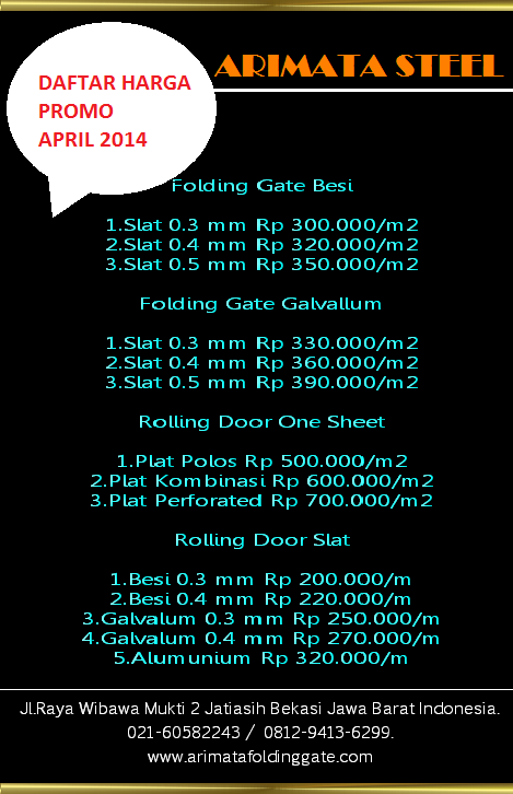 Images For Harga Folding Gate