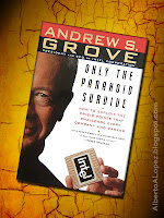 "Beauty shot picture of book by Andrew Grove, ""Only the Paranoid Survive"", ""How to Exploit the Crisis Points That Challenge Every Company"""