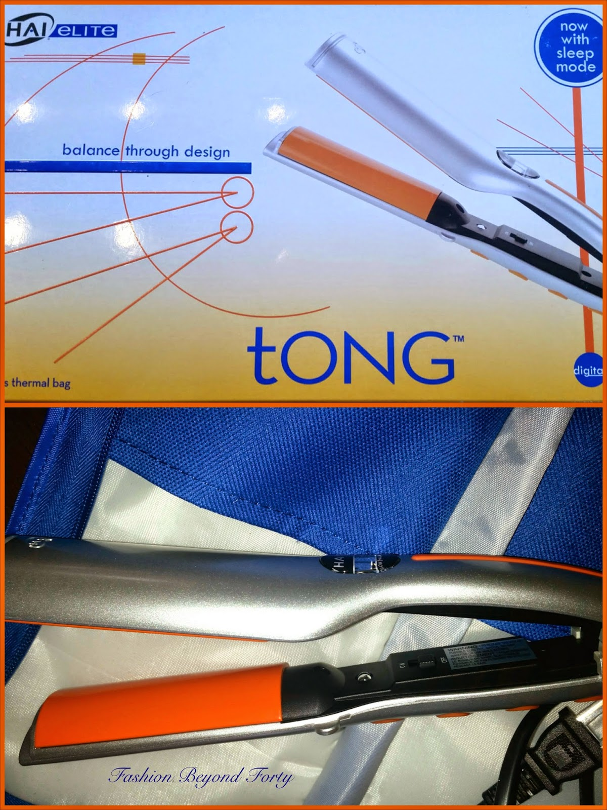 Hai Elite Tong with Rusk Flat Iron Spray Review and Drawing
