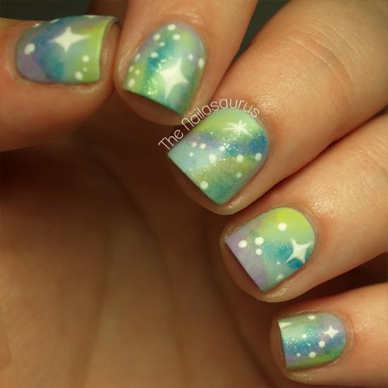 Pastel Planets: Matte Nebula Nails!