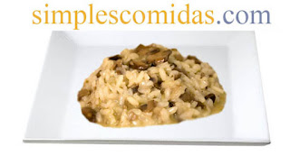 Risotto con hongos