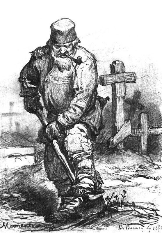 Viktor Vasnetsov: 'Momento Mori' - The Grave-digger (1871)