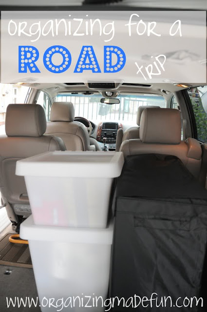 Organizing for a road trip :: OrganizingMadeFun.com