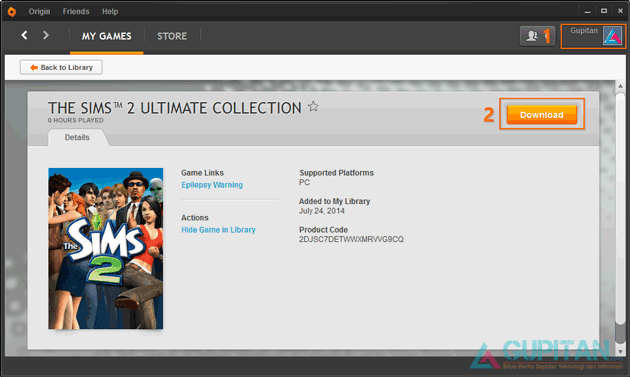 Download The Sims 2 Ultimate Collection Gratis dari Origin