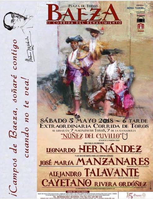 BAEZA (ESPAÑA) 05-05-2018. CORRIDA DE TOROS MIXTA.