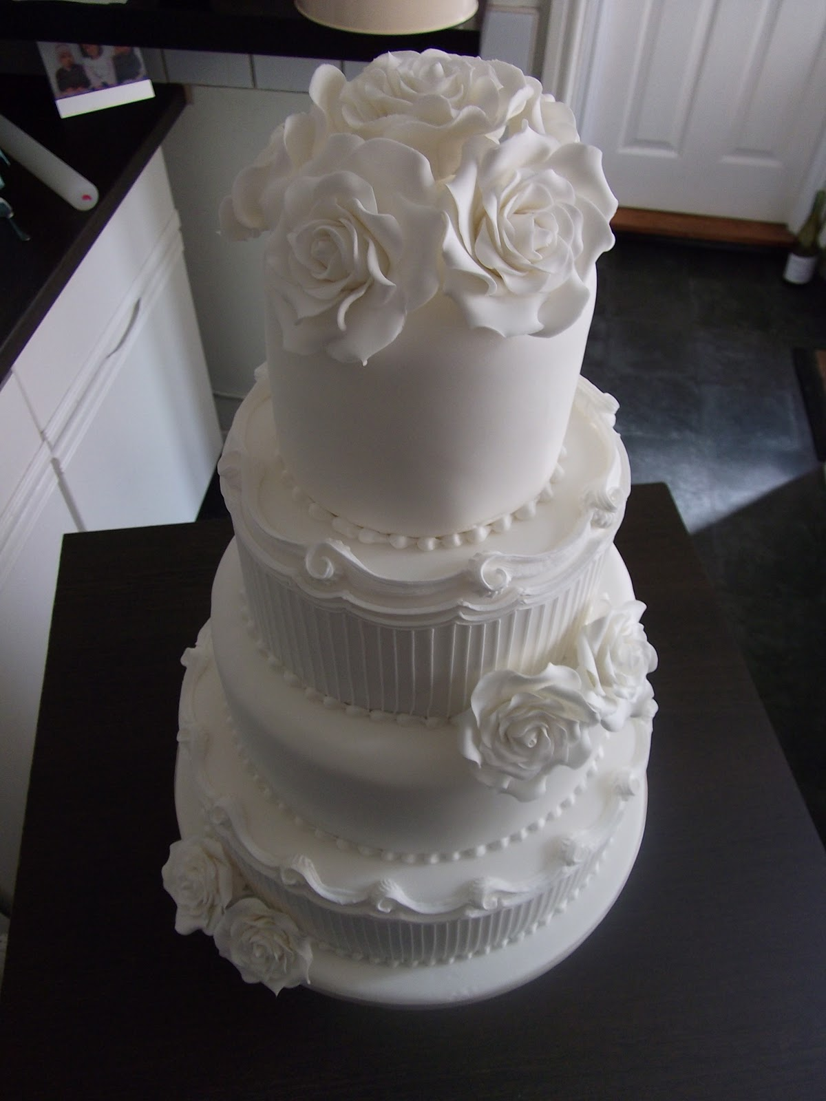 The LILY ROSE Cake Co White Wedding Cake