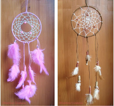 Completed Handmade Dream Catchers