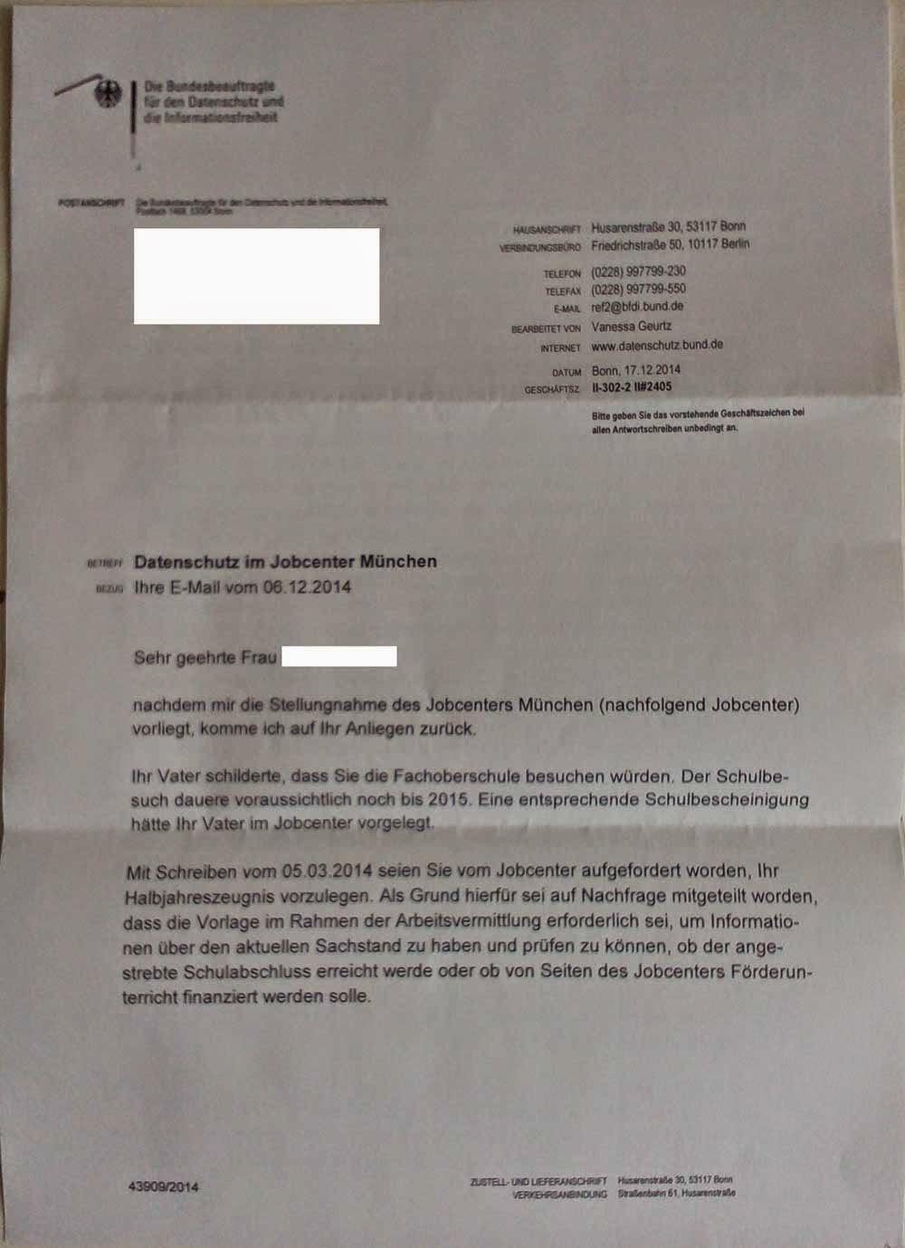 Nun, der Rest ergibt sich aus dem Schreiben. Selbiges ging noch an eine  Anwältin in München, der ich in recht jüngster Zeit meine Schilderung  vorlegte und ...