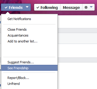 see friendship settings facebook
