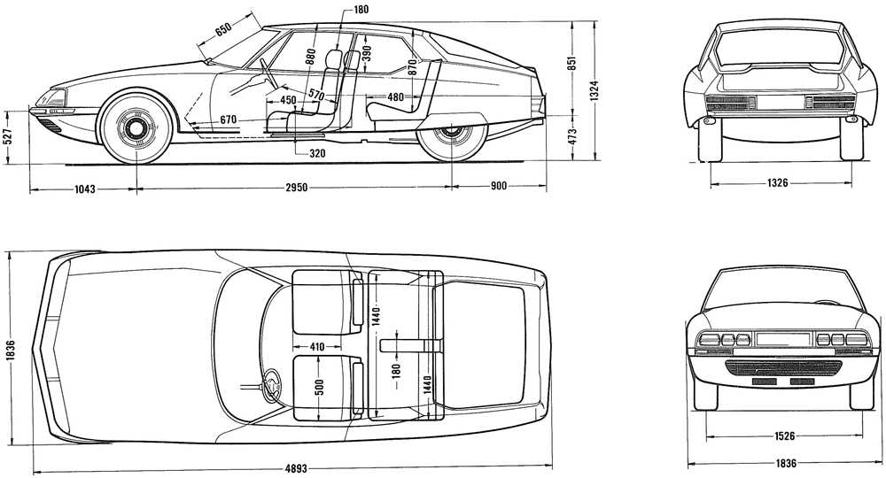 Citroen SM Engineering Drawings | The Car Hobby