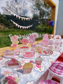 2D Tea Party Set 12th scale
